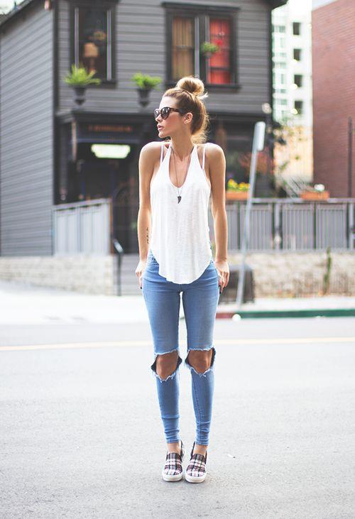 slip ons street style summer Are We Sick Of Heels?