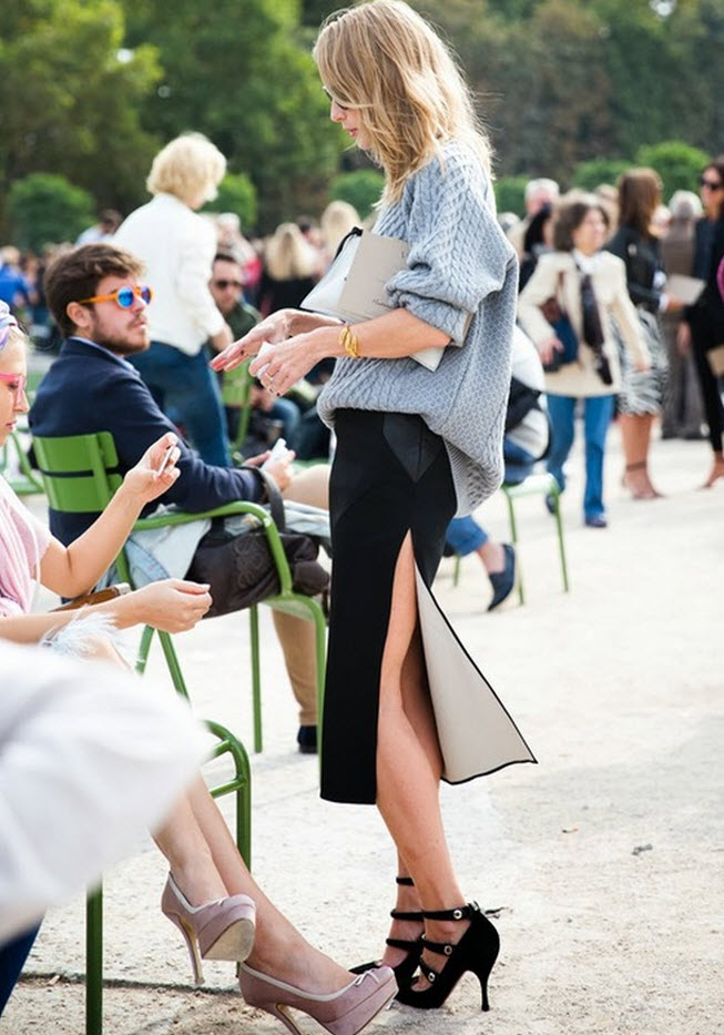 slit skirts street style 2014 trend The SLIT Is Back!