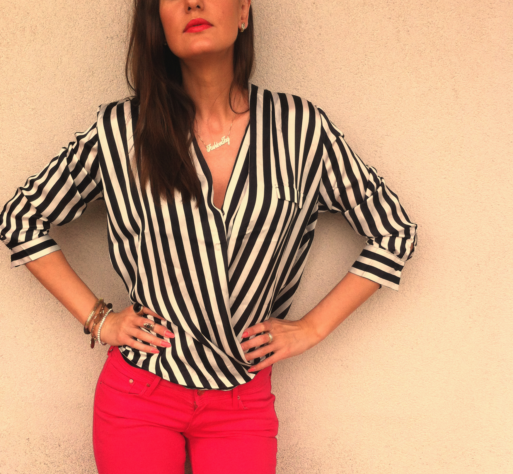 stripes chiffon blouse Florals & Stripes