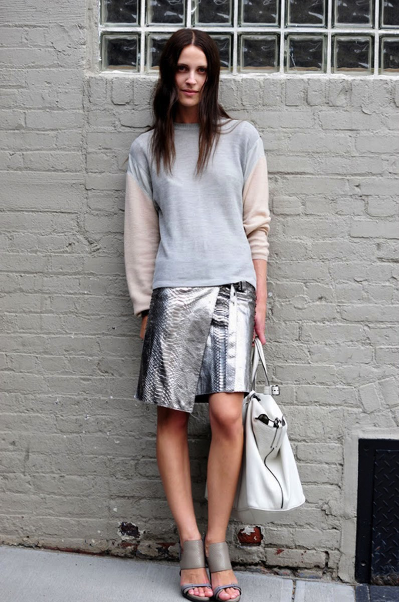 Vanessa-Traina-metallic-skirt