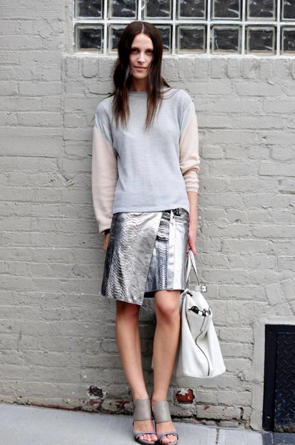 Vanessa-Traina-metallic-skirt