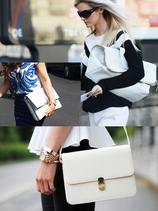 white bags fashion trend Are WHITE BAGS Back In Style?