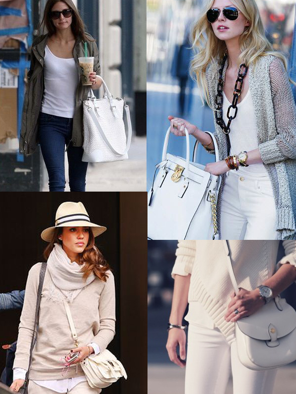 white bags styles 2014 Are WHITE BAGS Back In Style?