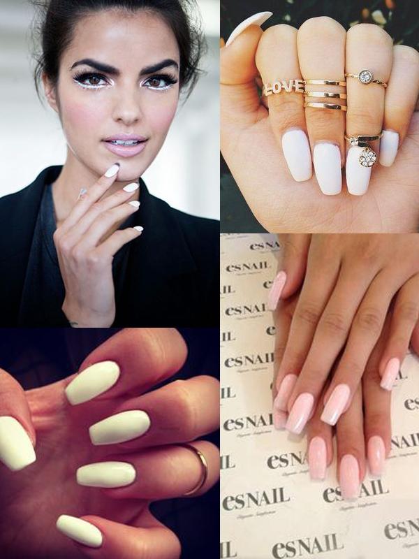 white-matte-nails