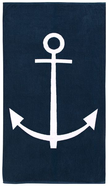 anchor-print-beach-towels