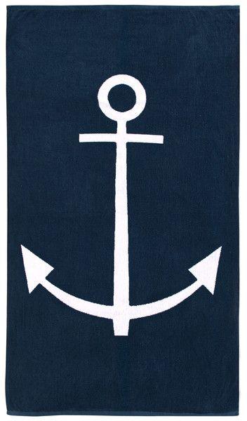 anchor-print-beach-towels