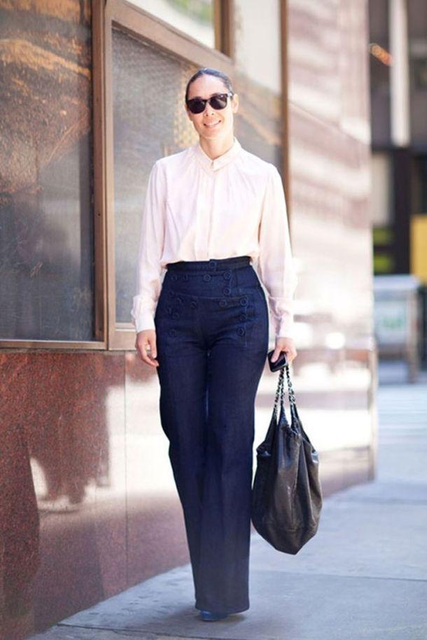 office-wear-jeans-blouse
