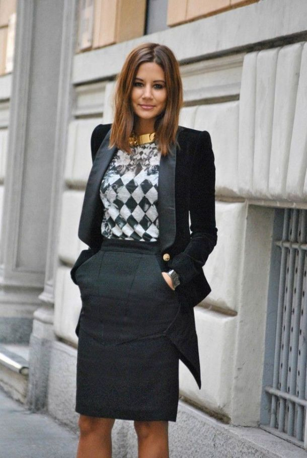 office-wear-pencil-skirt-blazer