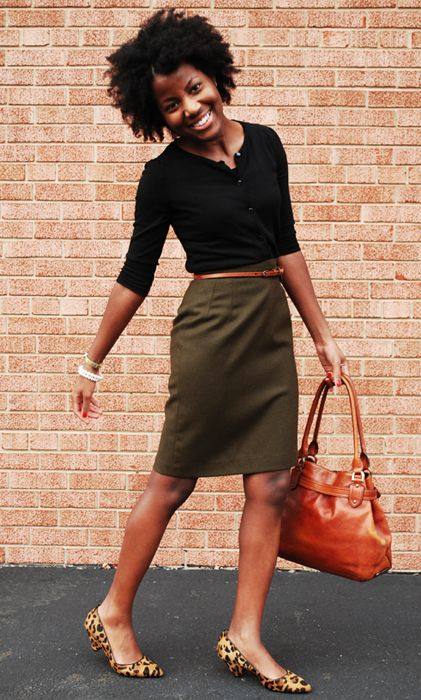 office-wear-skirt-ballet-flats
