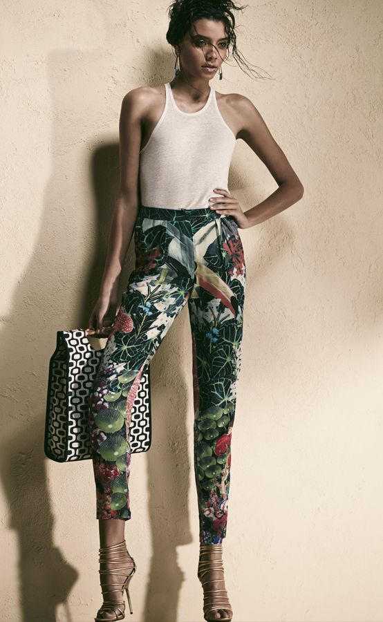 tropical-print-pants