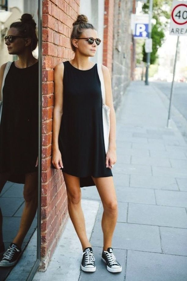 Black bag summer dress