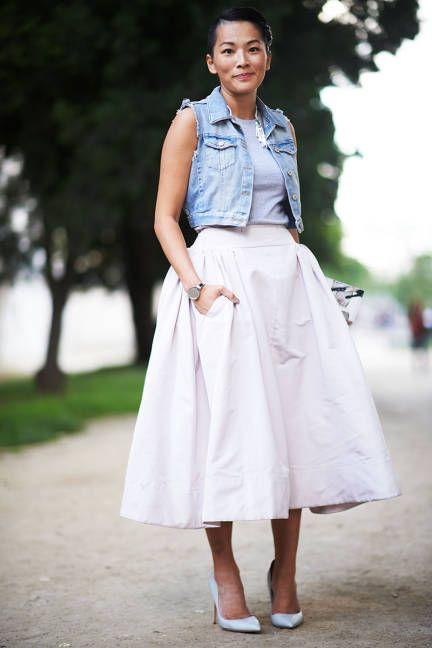 denim-vest-tulle-skirt-style