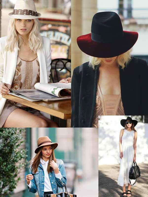 Summer hats trend for women: panamas, fedoras and cowboy styles