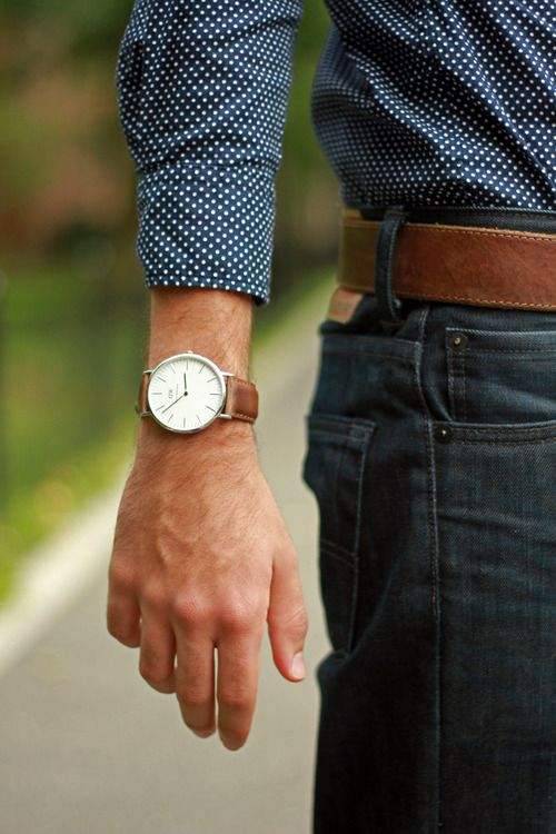 men-summer-trends-brown-belt-watch