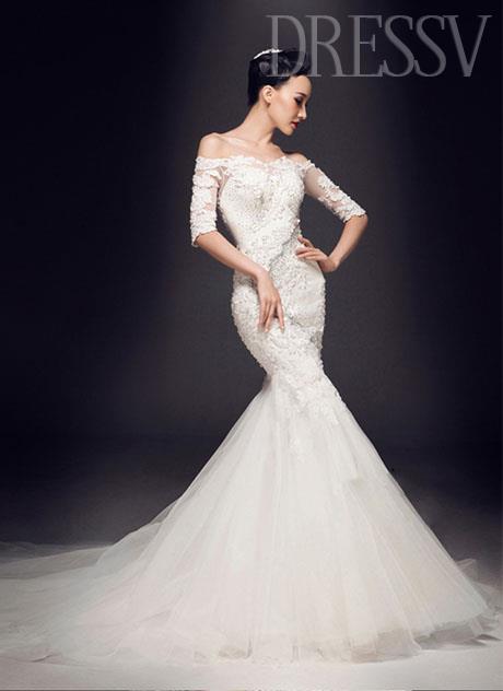 Are Mermaid Wedding Dresses A Trend The Fashion Tag Blog