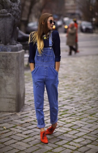 Image result for overalls street style
