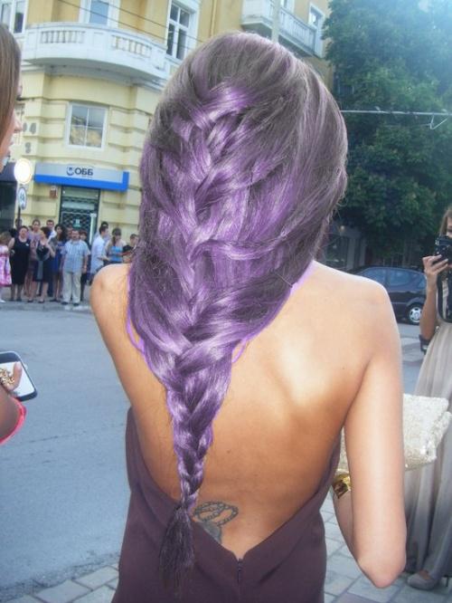 urple-hair-look