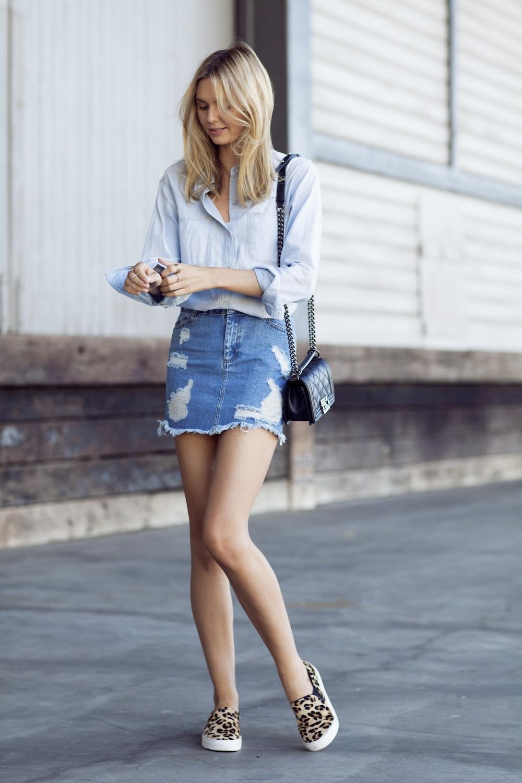 Denim Skirt Looks 55