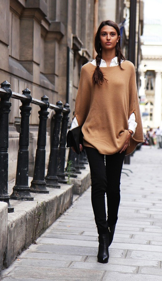street-style-poncho-2015-fall-trend